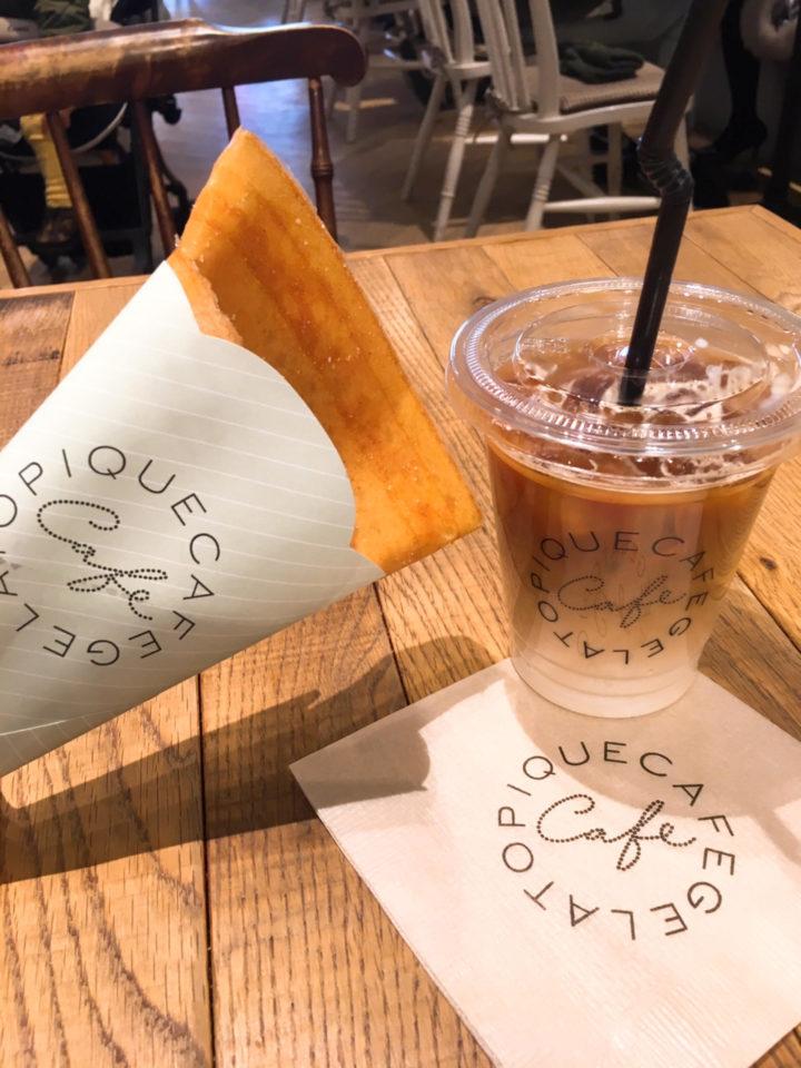 ジェラートピケカフェのクレープ