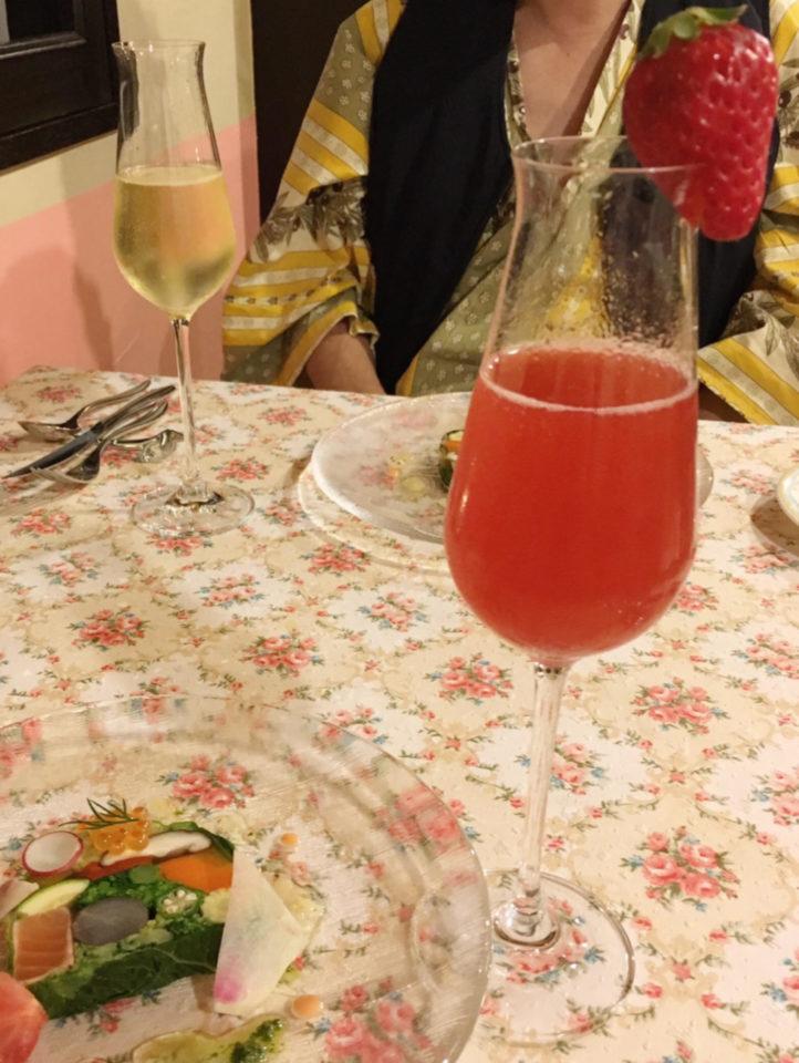オーパヴィラージュの乾杯ドリンク