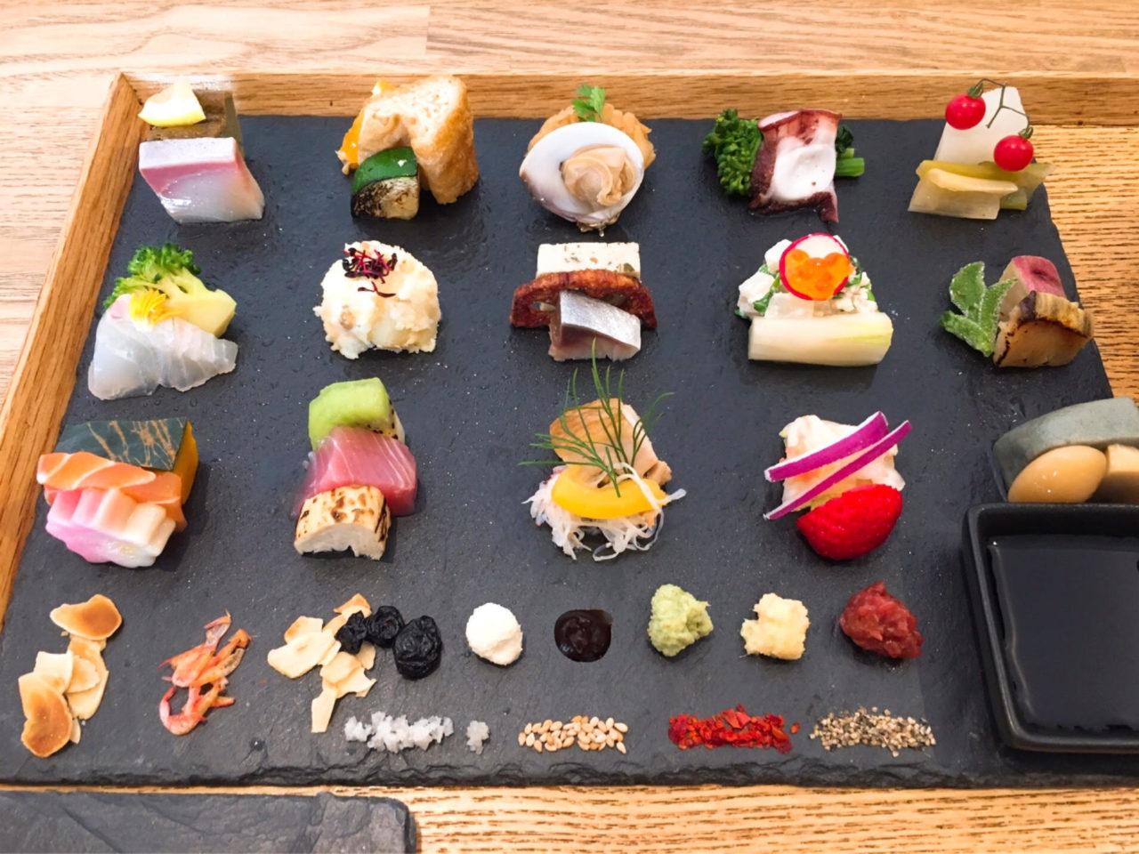アウームの手織り寿司
