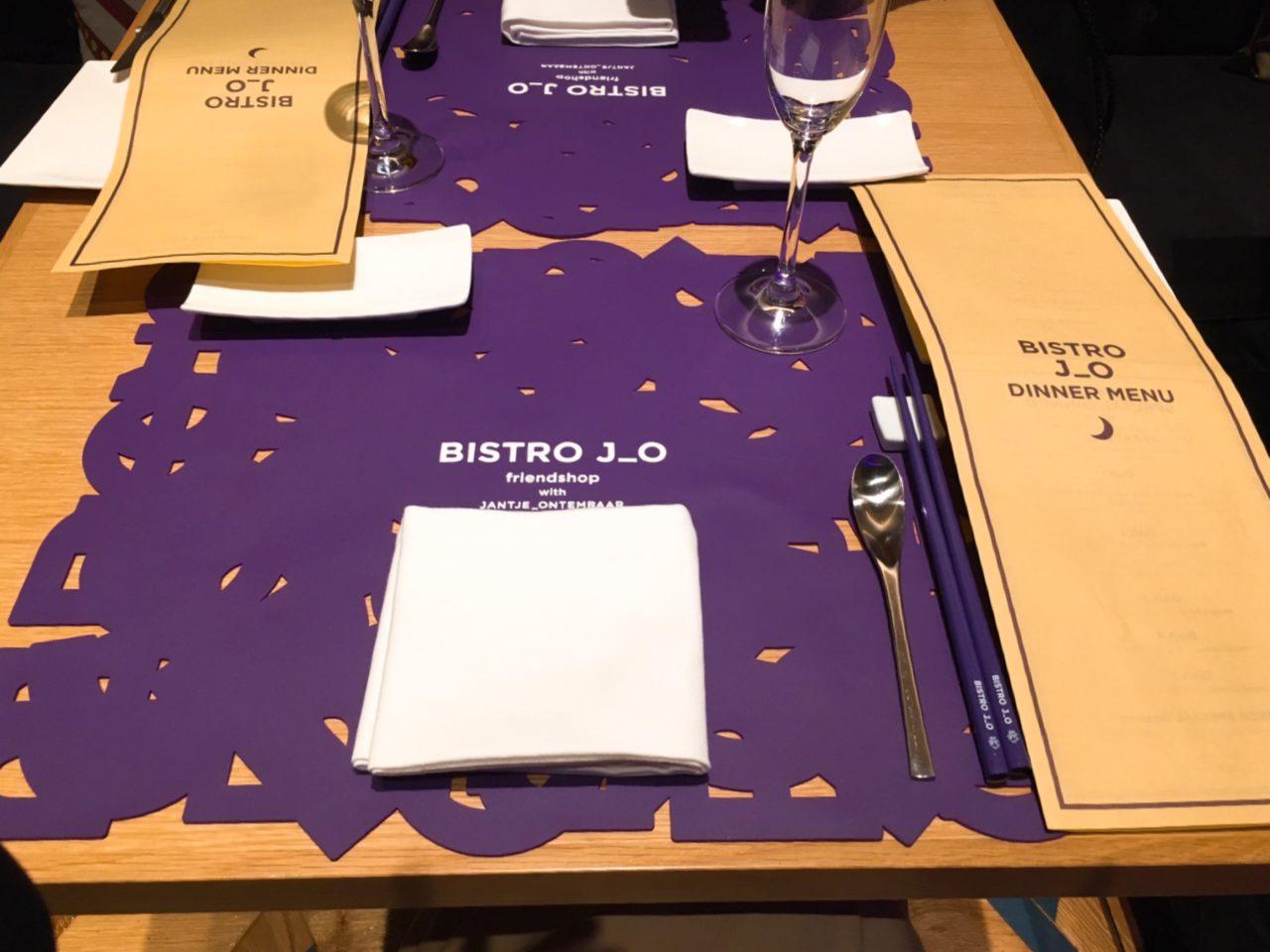ビストロジョーのテーブルセッティング