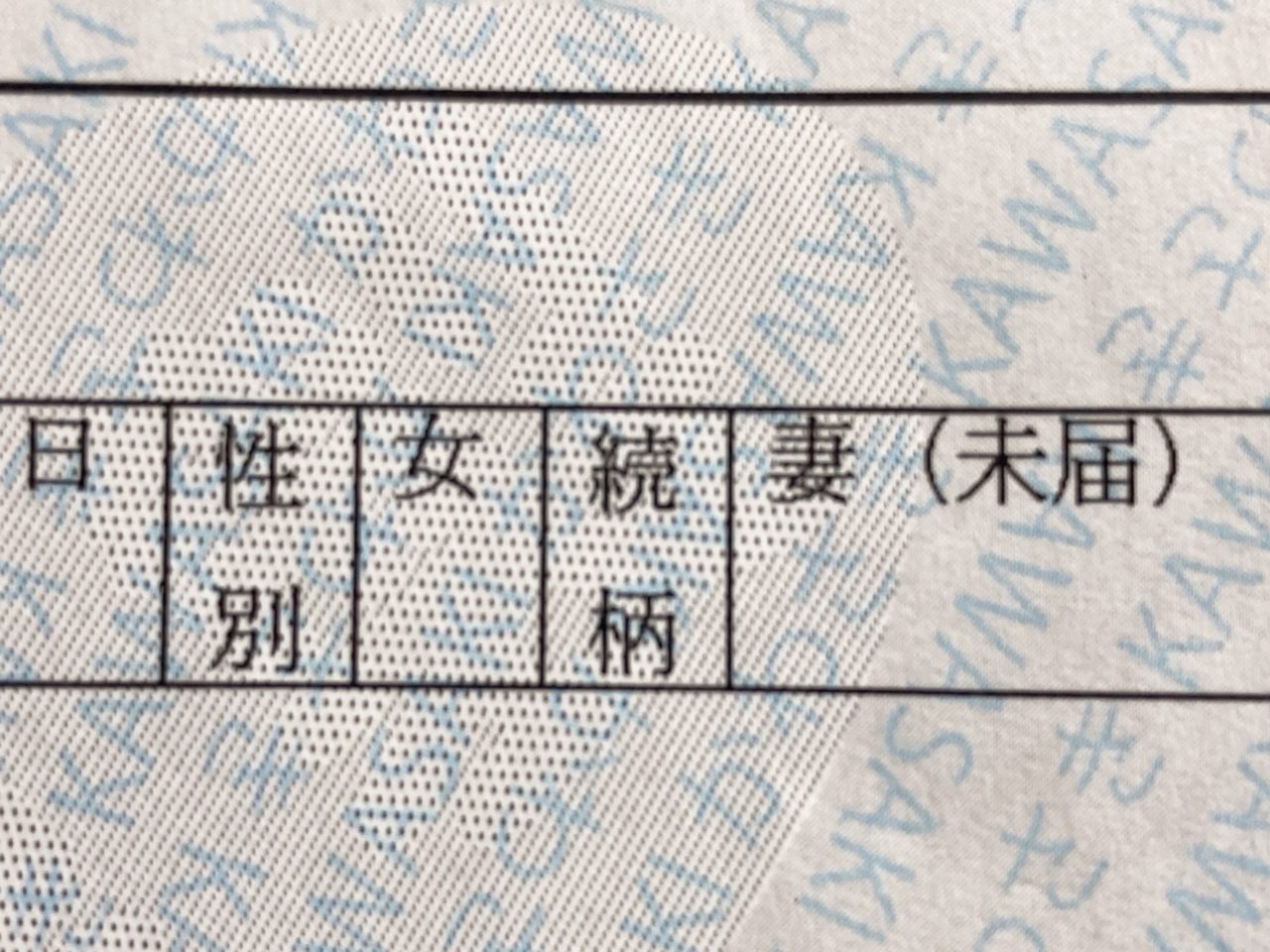 事実婚の住民票